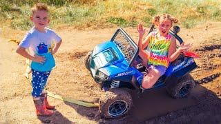 Мелисса застряла на машинке в грязи Артур спешит на помощь