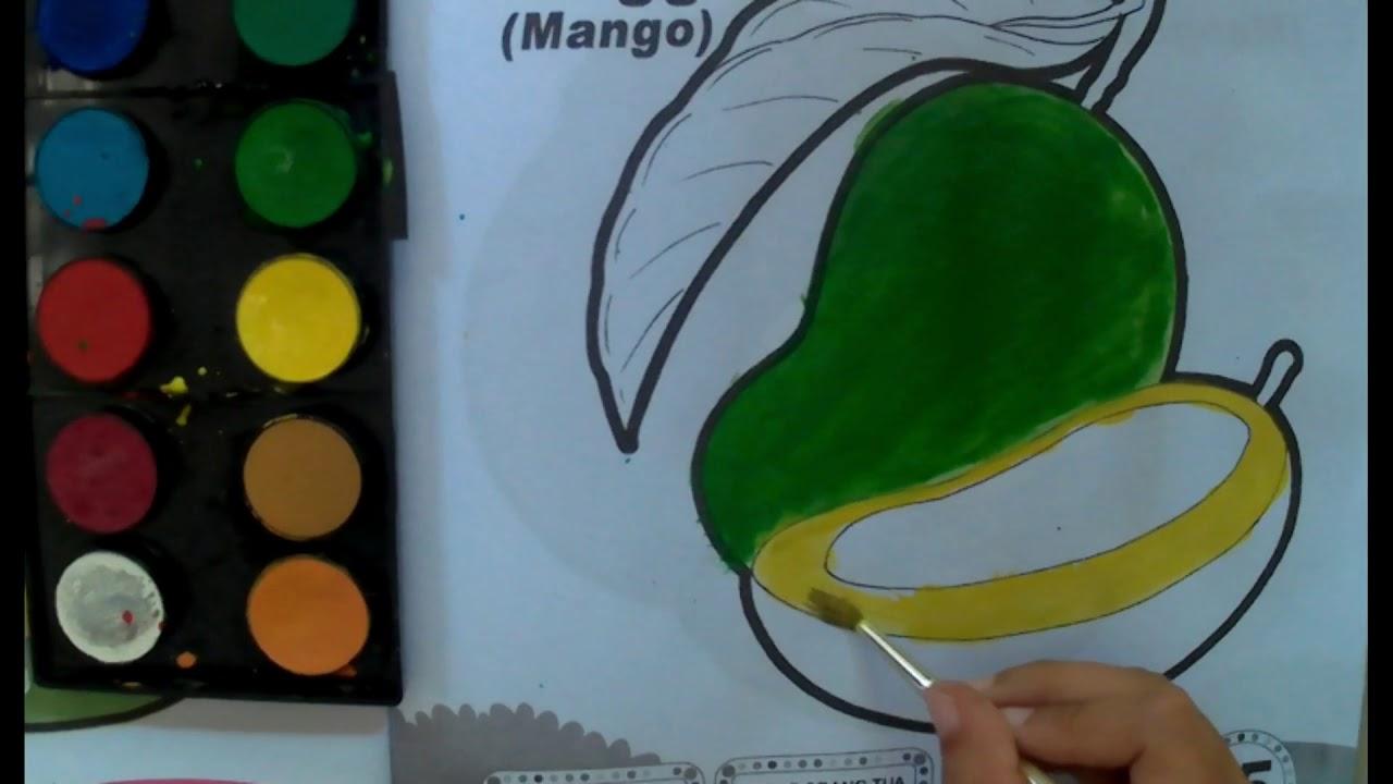 Belajar Mewarnai Buah Mangga Kids Coloring Youtube