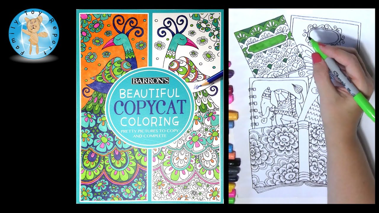 Barrons Beautiful Copycat Coloring Book Butterfly Elephant Owl