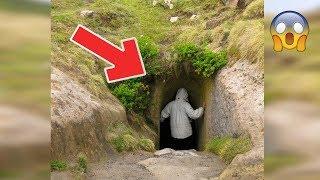 Él vio un hueco en la montaña, y decidió investigar. Nunca imaginó encontrar esto del otro lado...