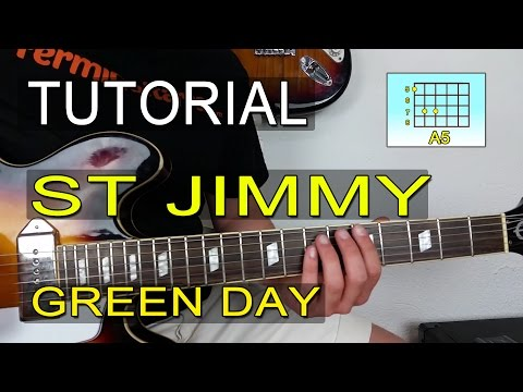 Cómo Tocar St Jimmy De Green Day En Guitarra - TUTORIAL - FermiGuitarra