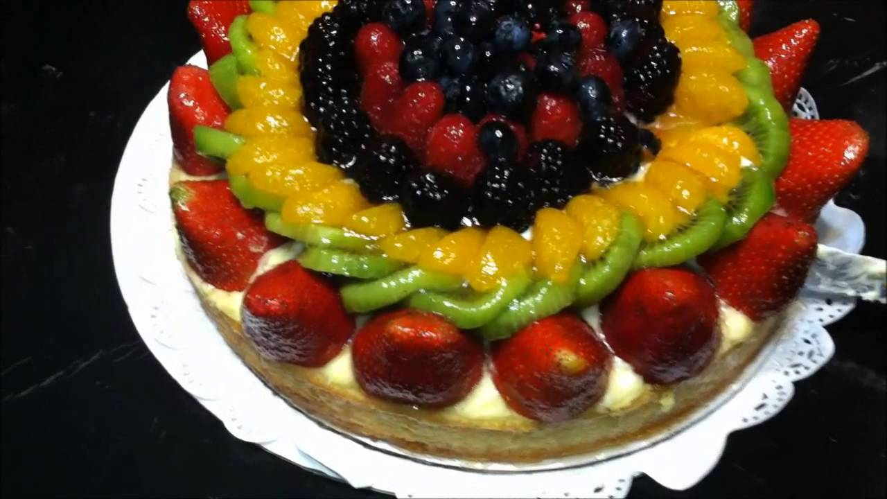 Dierbergs Bakery Fruit Custard Cake Review Youtube