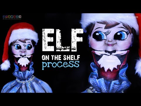 Elf on the shelf face painting Process