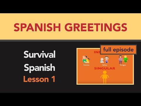 Survival Spanish Lesson 1 Basic Words Greetings