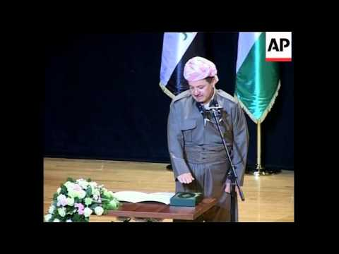 Barzani sworn in as president of Kurdish govt, comment on Wed's blast