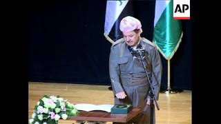 Barzani sworn in as president of Kurdish govt, comment on Wed's blast