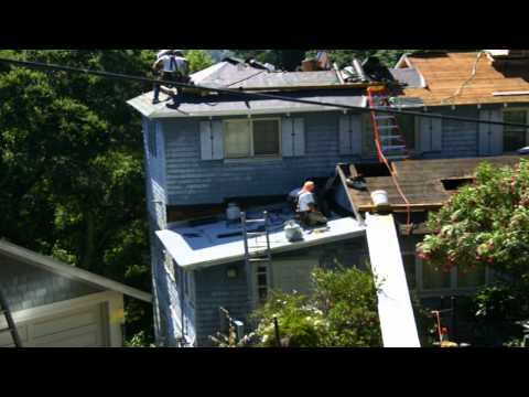 Re-roofing 2000' home in 8 minutes - Timelapse