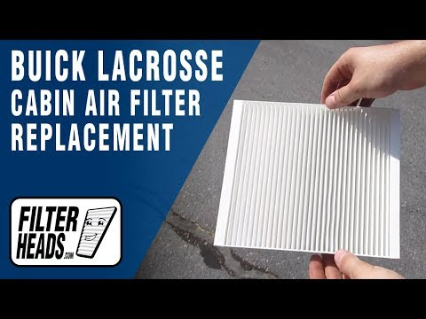 How to Replace Cabin Air Filter 2011 Buick LaCrosse