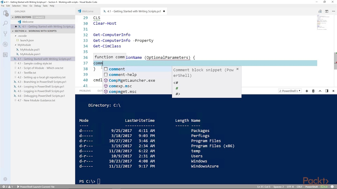 Automating Your Systems with PowerShell 6 x : Getting Started with Writing  Scripts | packtpub com