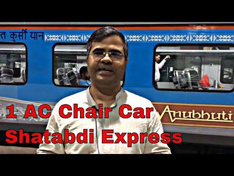 Shatabdi Express AC First Chair Car Full Review in Hindi   Anubhuti Class   Mumbai to Bharuch
