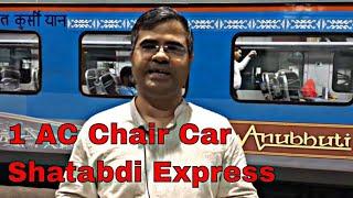 Shatabdi Express AC First Chair Car Full Review in Hindi | Anubhuti Class | Mumbai to Bharuch
