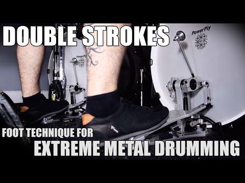 DOUBLE STROKES TECHNIQUE / HEEL-TOE [Extreme Drumming]