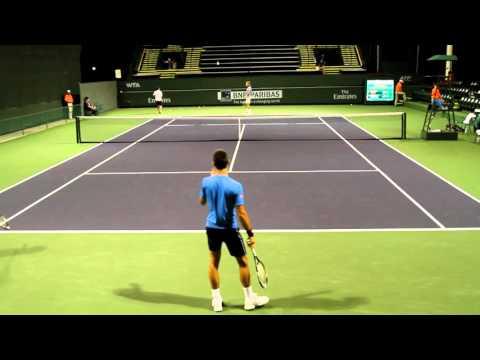 Novak Djokovic Practice 2015 BNP Paribas Open Indian Wells