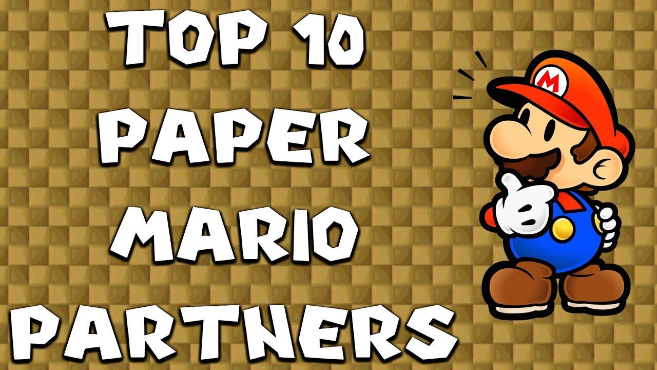 top 10 paper mario partners youtube