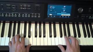 Keyboard bladmuziek; Decemberboek deel 1: Sinterklaas: Zie ginds komt de stoomboot (Yamaha CVP 605)