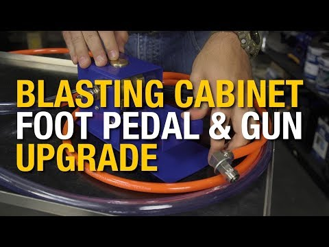 Blast Cabinet Foot Pedal & Gun Upgrade - Blast Away Rust & Paints