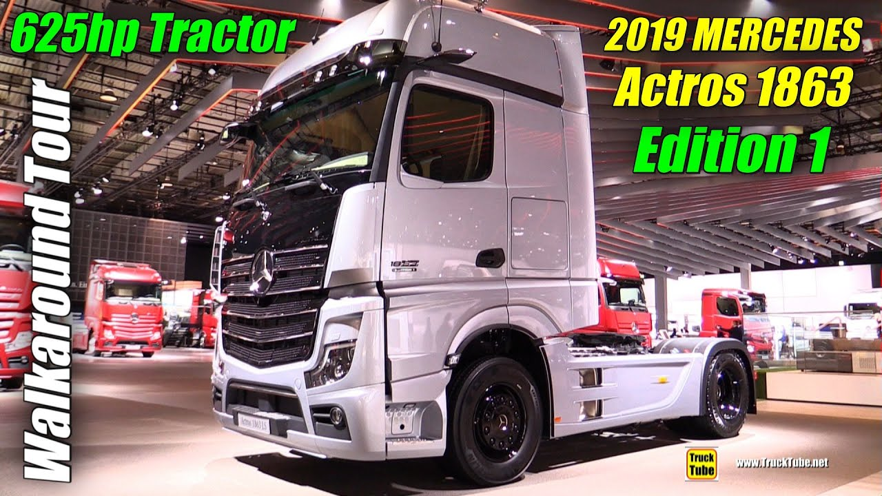 2019 Mercedes Actros 1863 LS Edition 1 625hp Tractor - Exterior and Interior Walkaround - 2018 ...