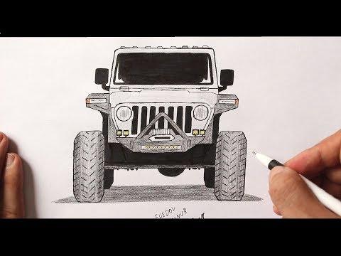 Как нарисовать машину Джип