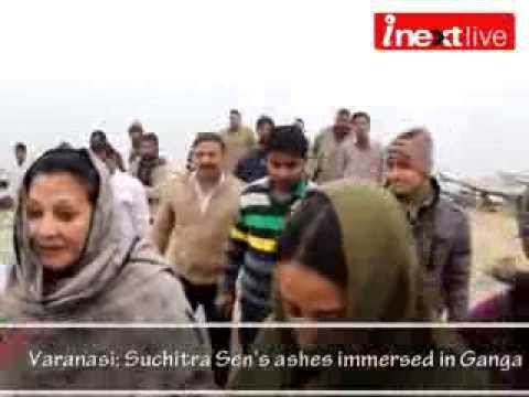Varanasi: Suchitra Sen's ashes immersed in Ganga