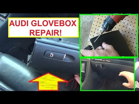 Audi A4 A3 A6 Glovebox Repair.  Audi Glove compartment REPAIR FIX