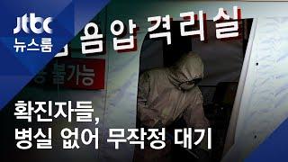 '확진' 판정받았는데…병실 없어 병원 밖 무작정 '대기' / JTBC 뉴스룸