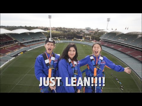 LEANING OFF THE ADELAIDE OVAL!