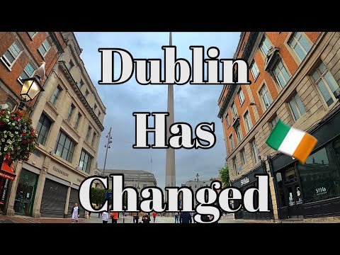 WALKING AROUND DUBLIN, IRELAND CITY CENTRE 4K | AUGUST 2020