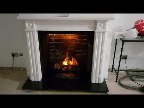 Dimplex silverton opti-myst fireplace basket and surround