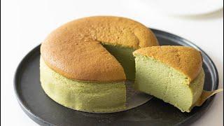 抹茶のスフレチーズケーキの作り方 Matcha Souffle Cheesecake HidaMari Cooking