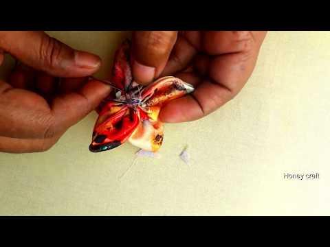 Fabric flower design | DIY Fabric Flower | Craft Idea Flower Design