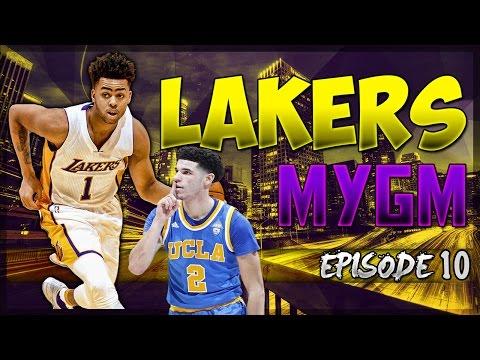Lakers Draft Lonzo Ball! - NBA2K17 MyLeague Los Angeles Lakers EP. #10