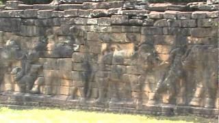 Angkor Wat Video Log 19 - Elephant sculpture