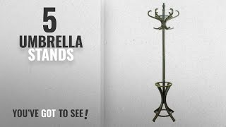 Top 10 Umbrella Stands [2018]: Headbourne Hr8085X Traditional Floor Standing Hat and Coat Stand