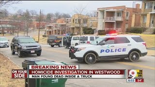 Man found dead inside truck in Westwood