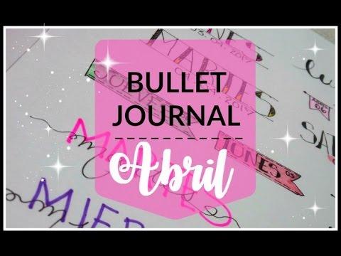 bullet-journal:-portada-abril/-dias-de-la-semana