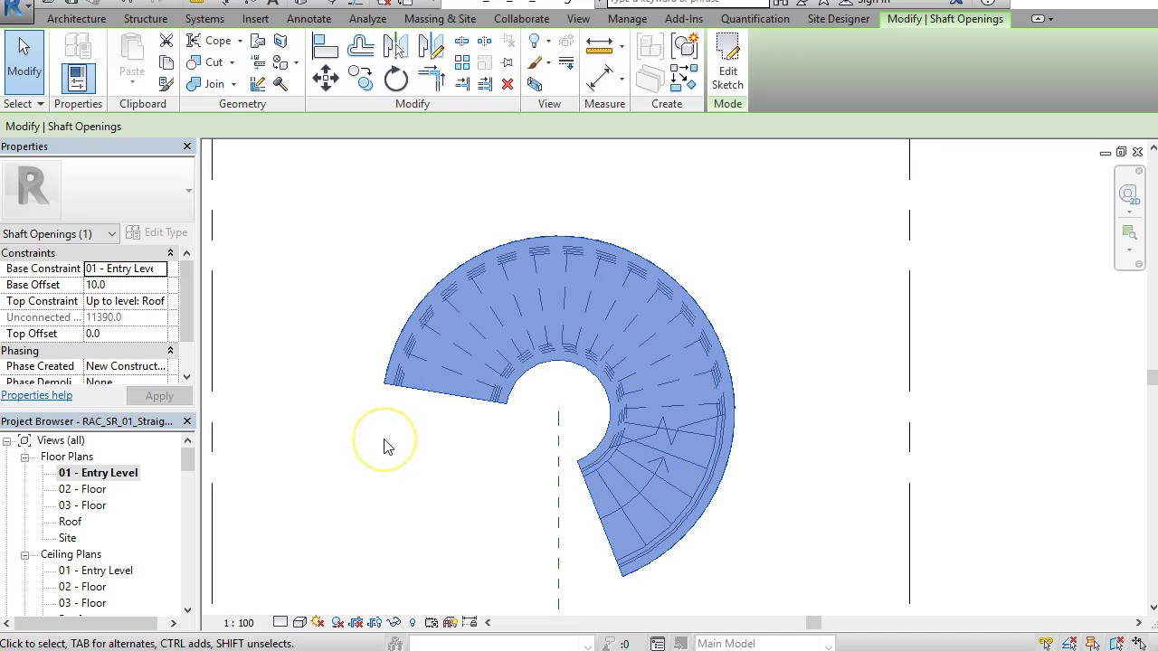 How To Draw A Spiral Stairs In Revit Youtube