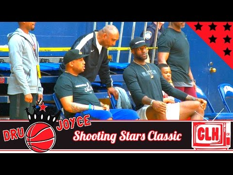 LeBron James Watches The Blue Chips Championship Game At Dru Joyce Shooting Stars Classic