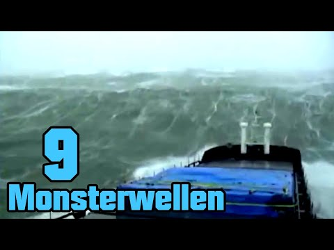 9 riesige Monsterwellen die mit Kamera festgehalten wurden
