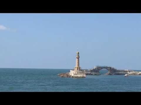 The Mediterranean coast at Alexandria, Egypt