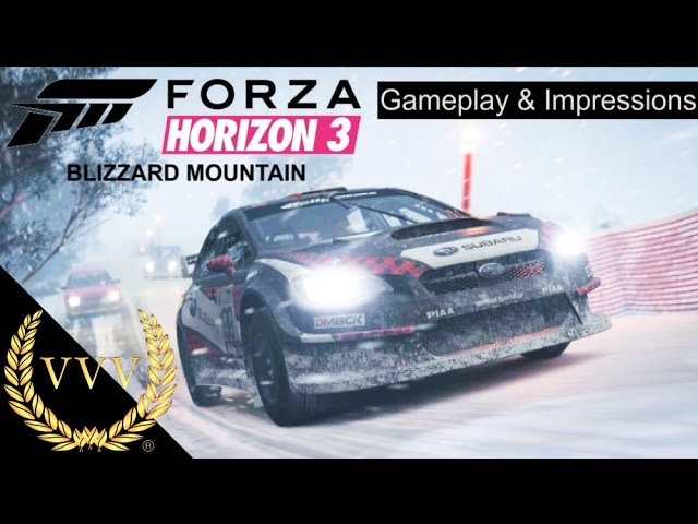 Forza Horizon 3 Blizzard Mountain Gameplay & Impressions