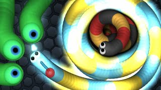 Slither.io Smallest Snake Hunting Longest Snake In Slitherio Live Stream!