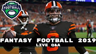 2019 Fantasy Football Advice - Live Q&A Answering Your Week 2 Fantasy Football Questions