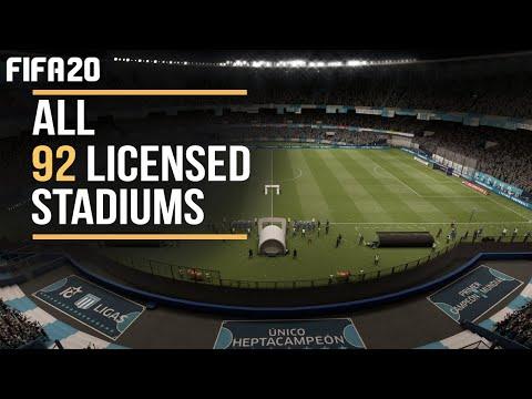 FIFA 20 | ALL 92 LICENSED STADIUMS Ft. Estadio Presidente Perón, Libertadores De América, AND MORE