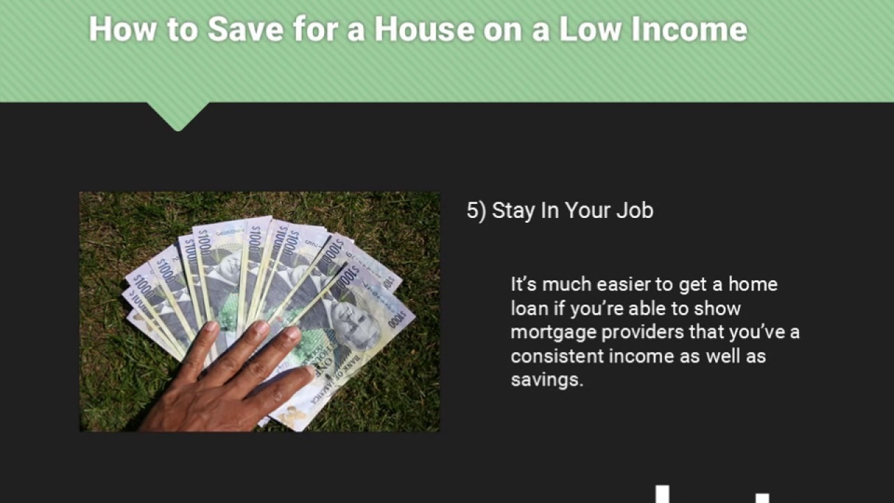 How to Save for a House on a Low Income  Nohuts