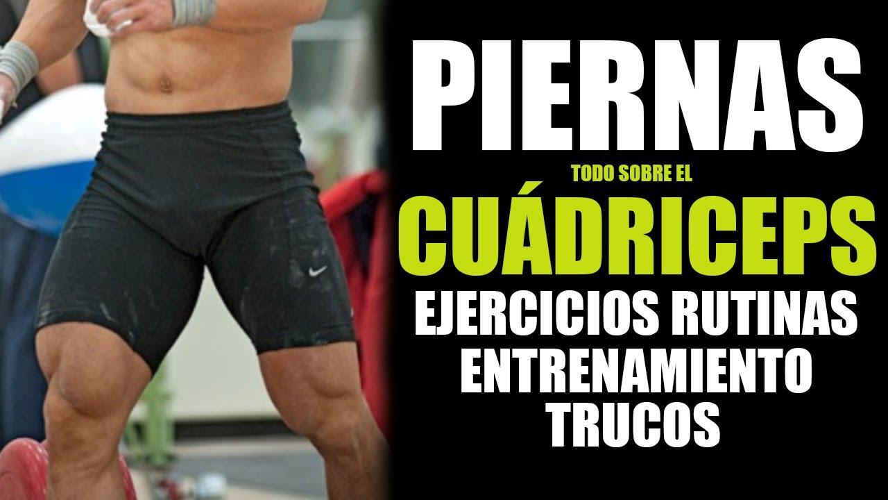 COMO ENTRENAR PIERNAS - MÁXIMO DESARROLLO DE CUADRICEPS (Ejercicios ...