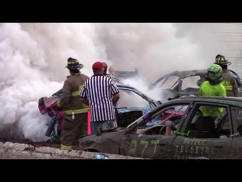 Dodge County Beaver Dam Wi Demo Derby 08/19/2018 Compact Feature