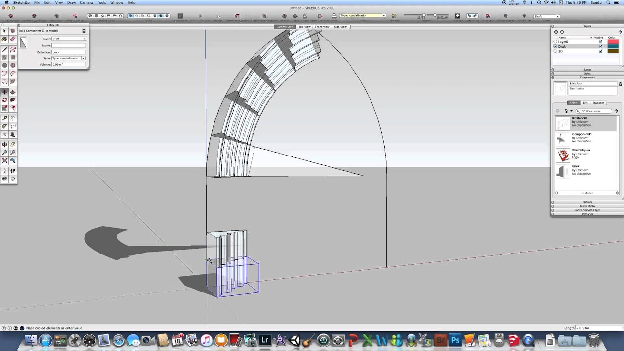 020 SketchUpus Tips To Build A Gothic Arch Part2
