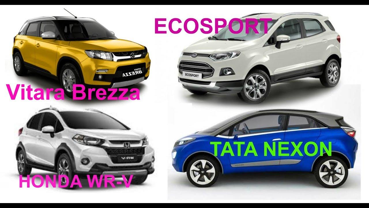 Tata Nexon Vs Vitara Brezza Vs Ecosport Vs Honda Wrv Full Comparison Hindi