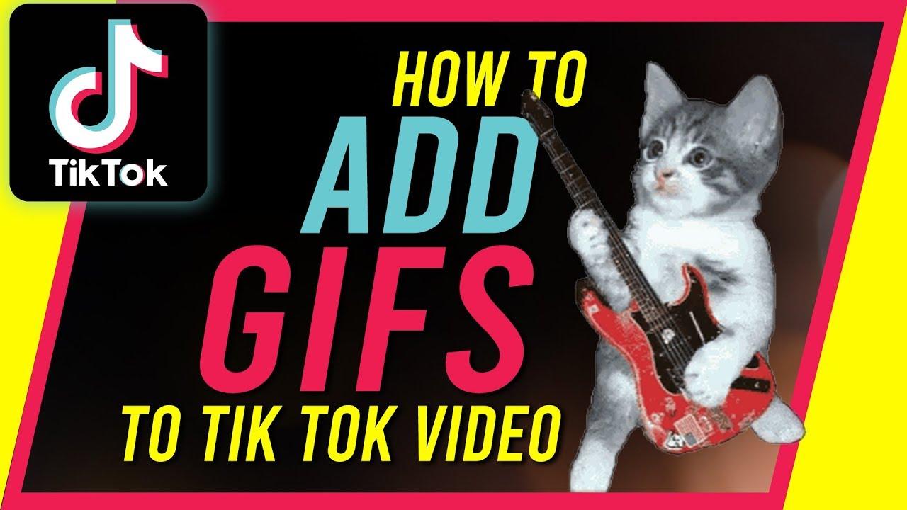 How To Add Gifs On Tiktok New Update Youtube