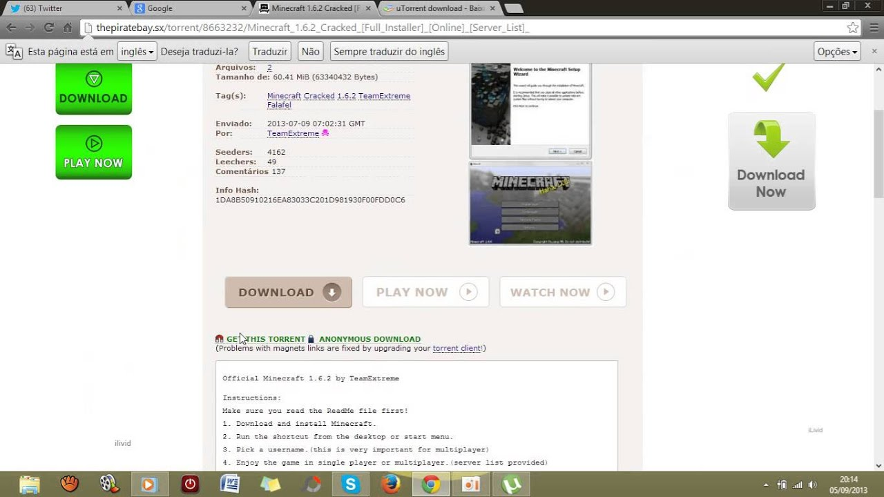 Tutorial baixar minecraft 162 the pirate bay torrent youtube tutorial baixar minecraft 162 the pirate bay torrent ccuart Image collections